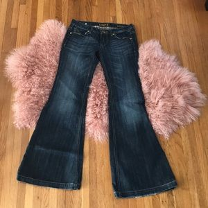 EXPRESS 🖤 ReRock Spanish Leg Flare Jeans